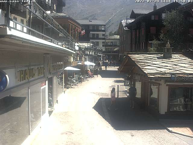 Webcam Saas-Fee Village - Free Republic of Holidays Saas-Fee