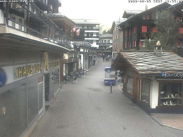 Webcam Dorf in der Freien Ferienrepublik Saas-Fee