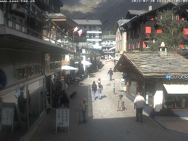 Webcam village - République Libre des Vacances de Saas-Fee